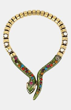 The gems are gorgeous on this snake necklace.