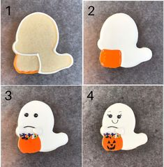 How to make this adorable Halloween ghost cookie. #ghost #halloweencookiesdecorated #halloween #halloweenparty #halloweenfoodforparty #halloweenpartyideas #halloweenpartysnacks #halloweenpartytreats Halloween Party Treats, Halloween Cookies Decorated, Halloween Cookie Cutters, Halloween Ghosts, Easy Halloween, Halloween Themes, Ghost Cookies, Cat Cookies, Cookies For Kids