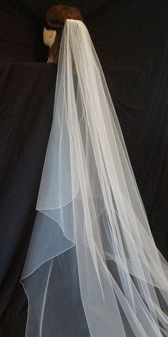 Ashley Chapel Length Veil Pencil Edge Veil by ClaireAnnBridalVeils Chapel  Length Veil 1fc37becfa32
