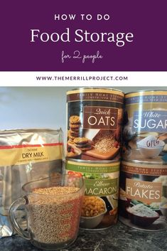 How to build a food storage for a family of 2. Food storage tips for a small family. Emergency food supply for 2 tips. Emergency Food Supply, Food Plus, Long Term Food Storage, Family Emergency, Rabbit Food, Disaster Preparedness, Frugal Living Tips, A Food, Recipes