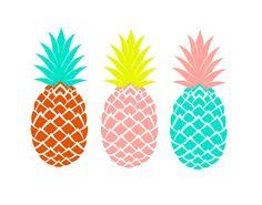Ananas Print Art imprimable trois ananas ananas par exileprints