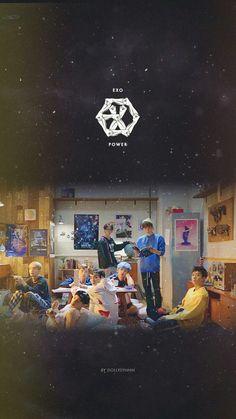 Bts And Exo, Exo Kai, Park Chanyeol, Baekhyun, K Pop, Namjoon, Kpop Backgrounds, Exo Album, Exo Lockscreen