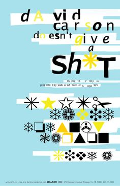 David Carson Doesn't Give a Sh*t: Typographic Poster by Lise Kyle Chapman, via Behance