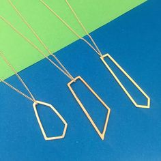 Geometric pendants in sterling silver, bronze and brass all on sterling silver necklaces Where To Buy Silver, Square Earrings, Silver Hoop Earrings, Sterling Silver Necklaces, Arrow Necklace, Beaded Bracelets, Bronze, Brass, Crystals