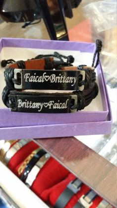personalized name leather bracelet free engraved custom made handmade by newyorkcustomermake on Etsy