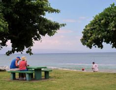 Honokowai Beach Park in West Maui is a good spot to take some takeout.