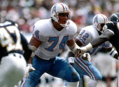 Bruce Matthews, Houston Oilers Here's another stalwart at RT you know how you can tell? #HOF