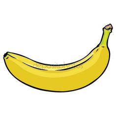 banana Vector de dibujos animados — Vector stock © nikiteev #31213519 Bananas, Ecuador, Minions, Fabric Painting, Fruit, Cartoon, Tattoos, Crocheting, Animales