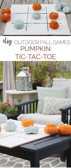 Outdoor Fall Games: DIY Pumpkin Tic-Tac-Toe