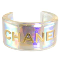 Lucite Cuff by Chanel