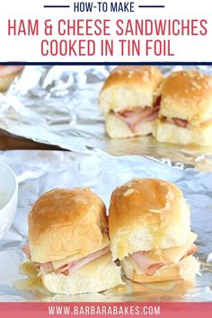 This sandwich is super versatile. You can bake it, grill it, or cook it over coals. Either way, it's a tasty family favorite! #BarbaraBakes #tinfoilhamandcheese #tinfoilsandwiches… More Best Appetizer Recipes, Delicious Breakfast Recipes, Best Dinner Recipes, Best Appetizers, Make Ahead Breakfast Casserole, Homemade Cookies, Ham And Cheese, Savory Snacks, Breakfast Smoothies