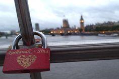 "Love lock on the Millennium Bridge in London ""#Cheapflights2013 http://www.bconlineshop.com.au/lovelocks,love,locks,love%20lock,padlock,lock%20ceremony,padlocks"
