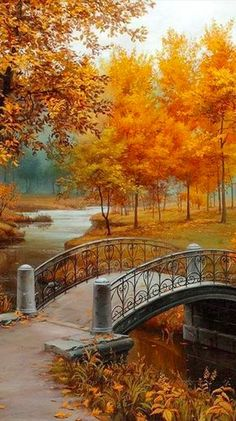 "Autumn Equinox: At the #Autumn #Equinox ~ ""Autumn in the Park,"" by Evgeny Lushpin."