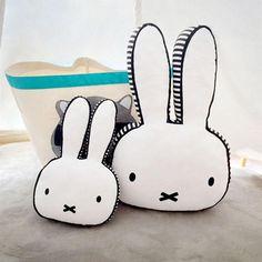 Baby Rabbit Pillow Kids Sleep Cushion Children's Bed Pillows Baby Room Decoration Infant Boys Girls Bunny Pillow