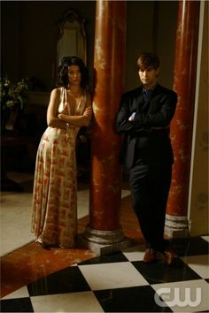 """The Dark Night""  Pictured: Jessica Szohr as Vanessa and Chace Crawford as Nate  PHOTO CREDIT:  GIOVANNI RUFINO/THE CW  ©2008 THE CW NETWORK, ALL RIGHTS RESERVED"