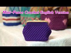 How to crochet mini purse - Click Clack purse Coin Purse Pattern, Crochet Coin Purse, Crochet Coat, Purse Patterns, Crochet Purses, Bead Crochet, Small Coin Purse, Mini Purse, Mini Bag