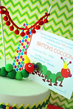 Very Hungry Caterpillar party invitation  by WH Hostess