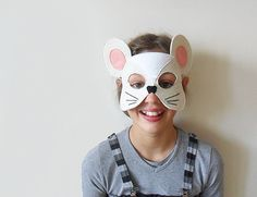 Kids Mouse Mask Children Carnival Mask Angelina by BHBKidstyle