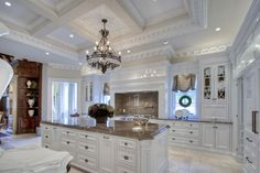 This Majestic Residence Sterling Hall, is the creation of Architects Harrison Design. Huge Kitchen, Home Decor Kitchen, Gourmet Kitchen Design, Home, Luxury, Luxury Kitchens, Luxury Homes, Elegant Kitchens, Home Kitchens