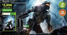 ¡Xbox 360 + HALO + 1 Juego descargable a $3,990 en Walmart!