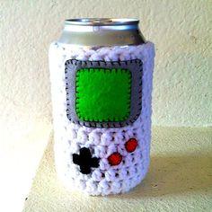 Nintendo Game Boy Beer Sweater Handmade Crochet by YarnSchool