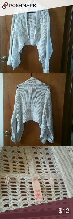 Victoria's Secret Heavy Cardigan Sweater White XL This sweater is 100% cotton. It is made by Victoria's Secret and is a size XL. It does not have any closures. It's very comfortable and true to size. It's pretty heavy. Item is clean and from a smoke free home. Thanks for looking! Victoria's Secret Sweaters Cardigans