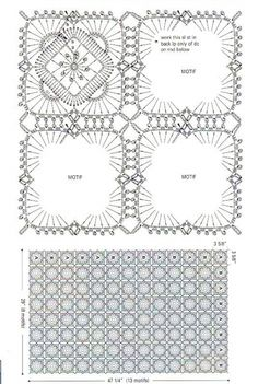 White and Blue Lace Square Afghan Pattern – Crochet Blanket free pattern. More Patterns Like This!