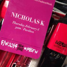 Backstage access at @Nicholas K  #NYFW show! #AvonMakeup