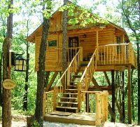 Treehouse Cottages - Eureka Springs, Arkansas: The Towering Pines Treehouse at Treehouse Cottages in Eureka Springs, Arkansas.