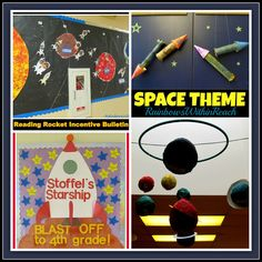 Space theme bulletin boards