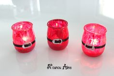 Santa Claus tealight - Świeczki i lampiony - noel Christmas Gift Baskets, Christmas Gnome, Father Christmas, Simple Christmas, Christmas Crafts, Christmas Decorations, Christmas Ideas, Diy Crafts To Do, Jar Crafts