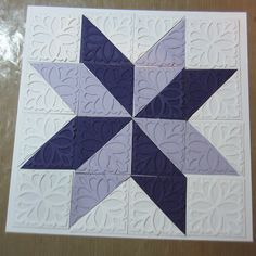 photo tutorial from PartiCraft (Participate In Craft): Quilt Card Tutorial ... luv it ... great texture ...