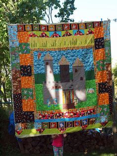 Castle quilt by gooseberry2, via Flickr