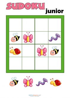 Sudoku for Kids   #Printable #Games #Kids