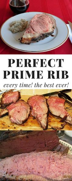 This easy prime rib recipe comes out perfect every time! Use this no fail prime rib cooking method for your Christmas dinner! cooking method Perfect Prime Rib Everytime (The Best Ever) Rib Recipes, Roast Recipes, Steak Recipes, Cooking Recipes, Cooking Ideas, Easy Cooking, Cooking Courses, Cooking Websites, Cooking Light