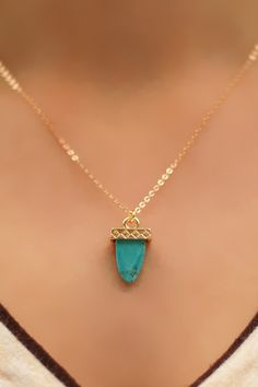 Ancient Findings Necklace in Turquoise, $15.00