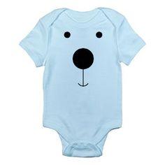 Minimalist Polar Bear Face Body Suit
