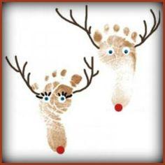 Gift ideas reindeer foot prints
