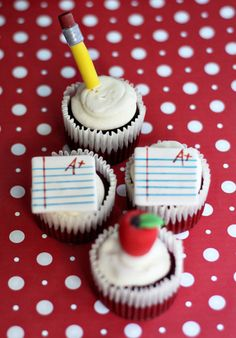 Back to school - cupcakes