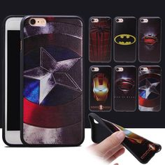 Marvel Iron Man America Captain Super Hero Spiderman Case For iphone 7 Plus 6S 6 Plus 5S Silicone Soft TPU Cover Bag Phone Shell