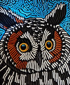 LISA BRAWN WOODCUT long-eared owl