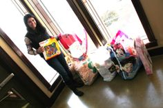 THANKS to Andrea Barci of Rogers for a sizable donation of toys and clothes, just in time for the holidays! We appreciate you thinking of our kids!