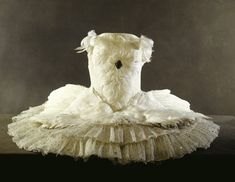Anna Pavlova's Swan Lake ballet dress. This white net tutu sewn with sequins and trimmed with goose feathers was worn by Pavlova in her most famous role.