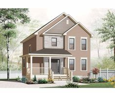 Country House Plan with 1661 Square Feet and 3 Bedrooms from Dream Home Source | House Plan Code DHSW75582