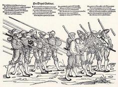Der Heereszug der Landaknechte. Blatt 4, Der Dopel Soldner (um 1535)