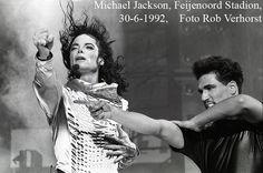 Michael Jackson, Kuip, Rotterdam, 30-6-1992, Foto Rob Verhorst