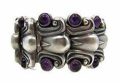 Rare Antonio Pineda Vintage Mexican Silver Bracelet         Visit  lookatthatnecklace.com