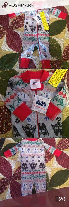 Hanna Andersson  Starwars pjs. NWT organic cotton one piece pajamas. Unisex. Hanna Andersson Pajamas