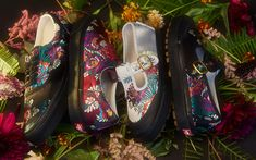 The women's looks of the Opening Ceremony x Vans Satin Floral Pack.