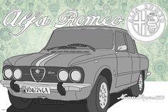 Alfa Romeo, Nuova Super 1900 Alfa Romeo, Vehicles, Car, Graphics, Automobile, Autos, Cars, Vehicle, Tools